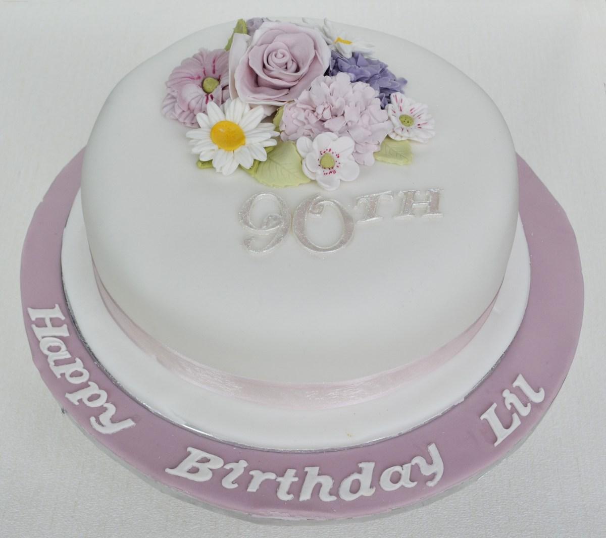 Remarkable 90Th Birthday Cakes 90Th Birthday Cakes Birijus Com Funny Birthday Cards Online Elaedamsfinfo