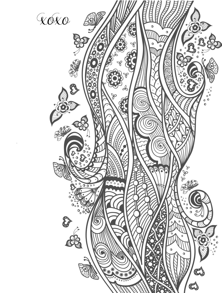 Adult Coloring Pages 20 Free Printable Valentines Adult ...