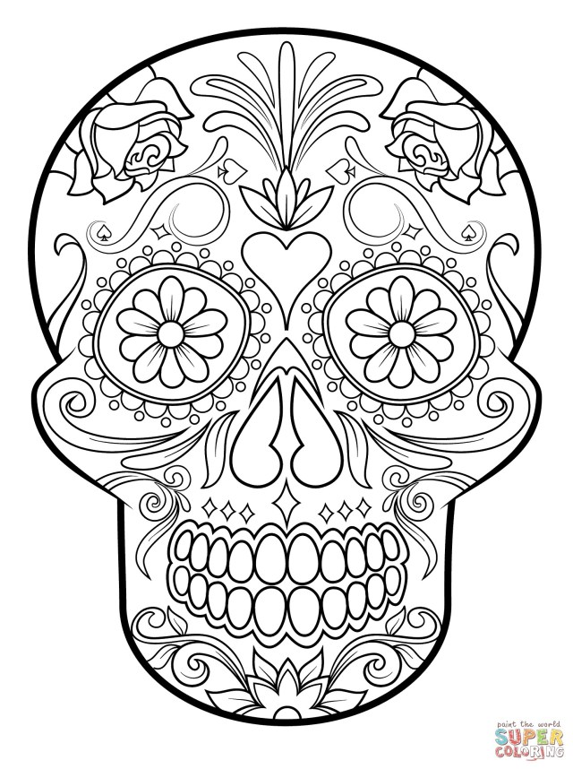 Adult Free Coloring Pages Pleasant Idea Sugar Skull Printable Coloring Pages Valid Page Adult