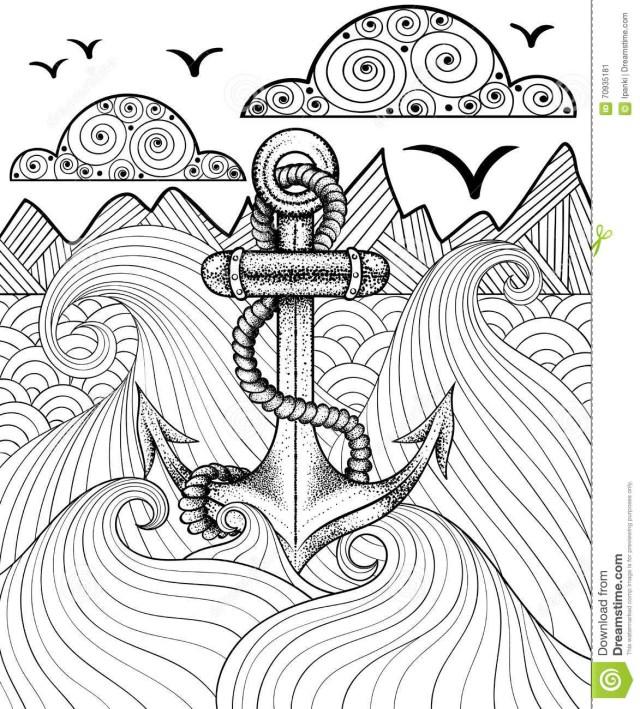 Anchor Coloring Page Anchor Coloring Page Adults Coloring Pages Coloring Pages Of