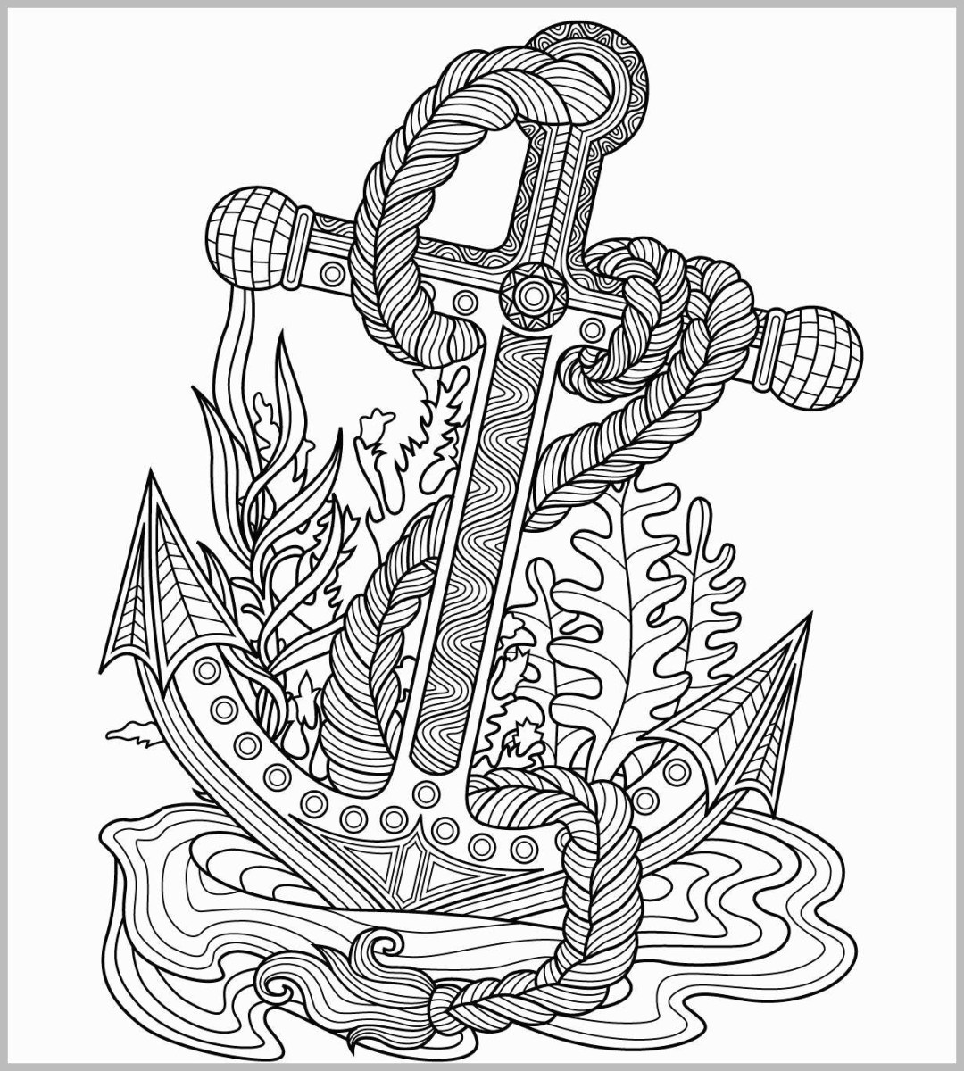 Anchor Coloring Page Anchor Coloring Page Best Anchors ...
