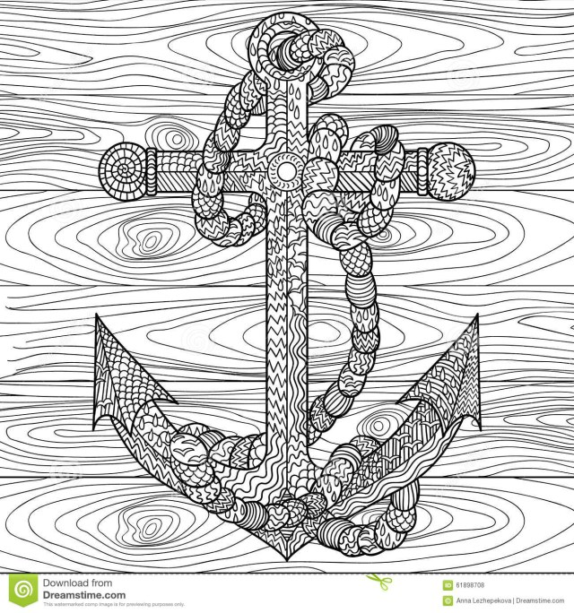 Anchor Coloring Page Anchor Coloring Page Boat Large Pages For Adults Small Flour