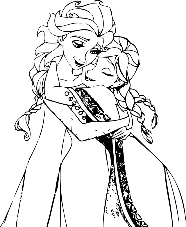 23 Inspired Picture Of Anna And Elsa Coloring Pages Birijus Com