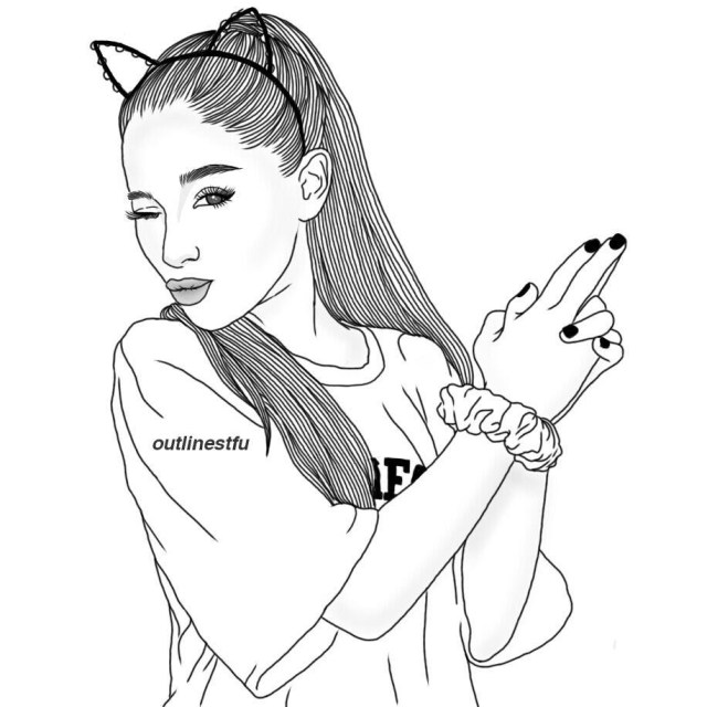 Ariana Grande Coloring Pages Ariana Grande Coloring Pages Democraciaejustica