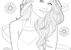 Coloring Sheets Of Ariana Grande Coloring Pages For Kids