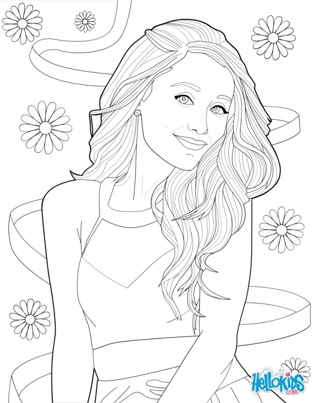Ariana Grande Coloring Pages Coloring Picture Of Ariana Grande Coloring Pages Hellokids