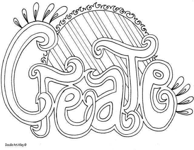 Art Coloring Pages Word Coloring Pages Doodle Art Alley