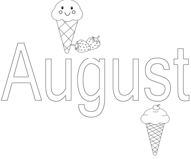 August Coloring Pages August Coloring Pages Preschoolers Free Adultsprintable15 August