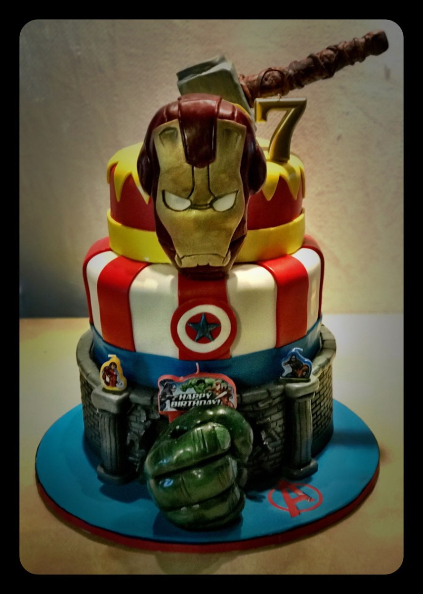 Surprising Avengers Birthday Cake Avengers Birthday Cake Cakecentral Funny Birthday Cards Online Drosicarndamsfinfo
