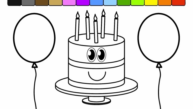 Balloon Coloring Pages Balloon Coloring Pages I7 Learn Colors For Kids With This Birthday