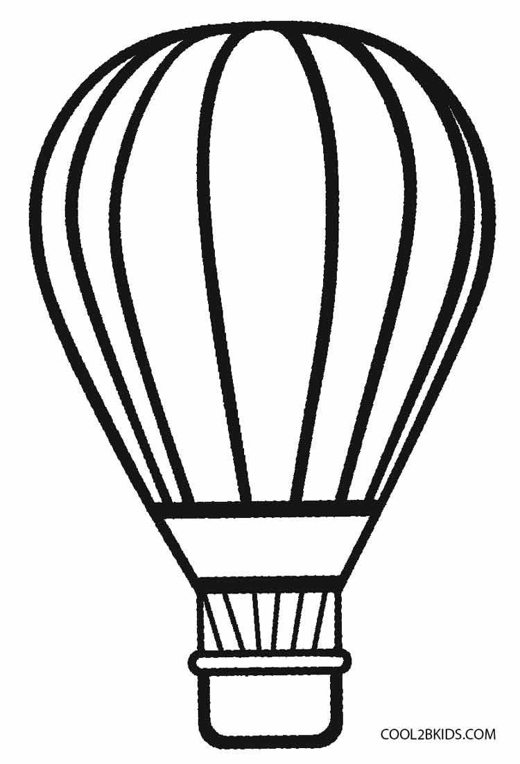 Balloon Coloring Pages In Hot Air Balloon Coloring Pages Coloring