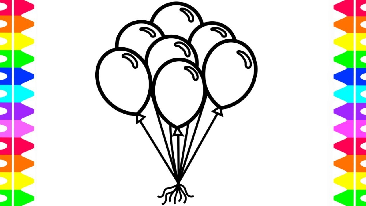 - Balloon Coloring Pages Learn How To Draw And Color Balloons