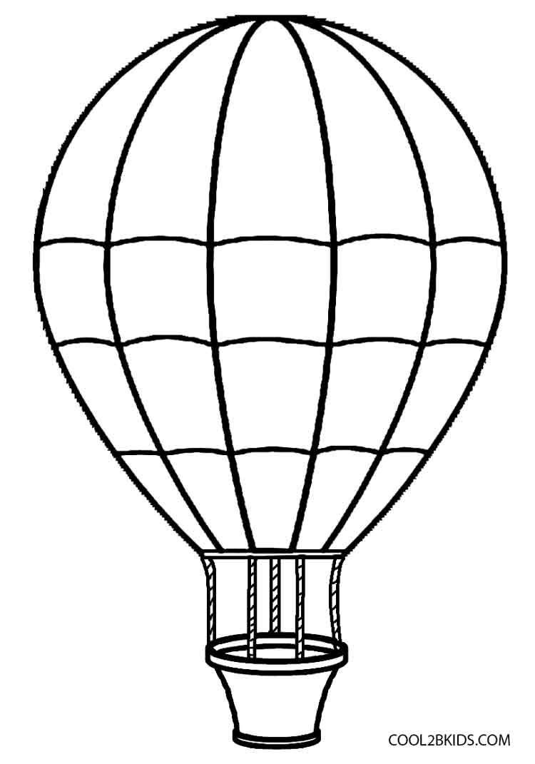 Balloon Coloring Pages Within Hot Air Balloon Coloring Page Coloring Pages For Children
