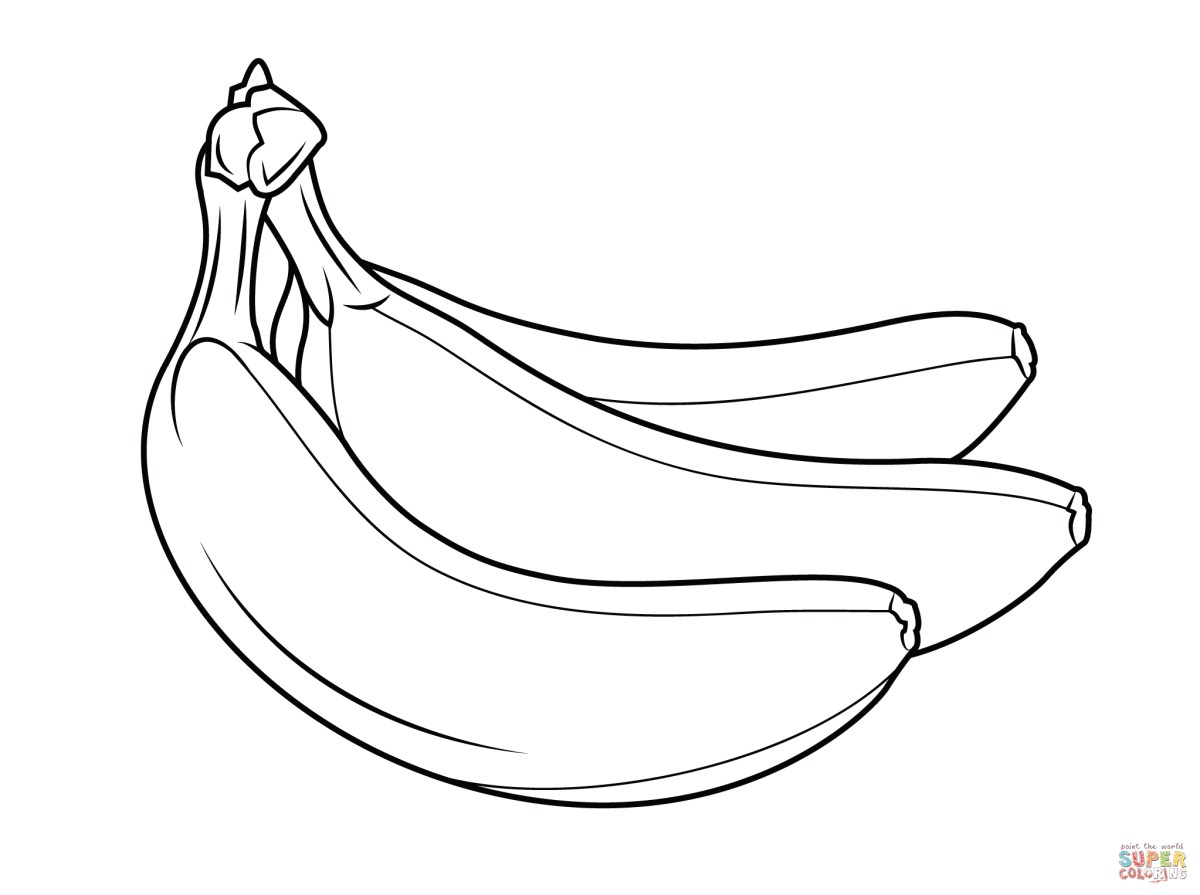 Banana Coloring Page Bananas Coloring Pages Free Coloring Pages