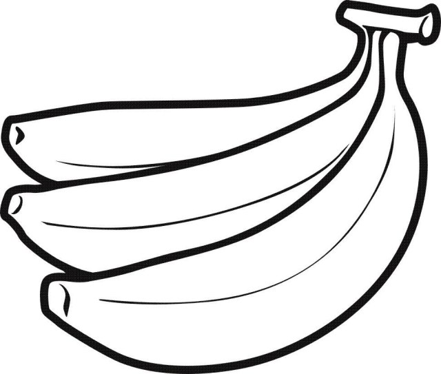 Banana Coloring Page New Peeled Banana Coloring Pages 444678