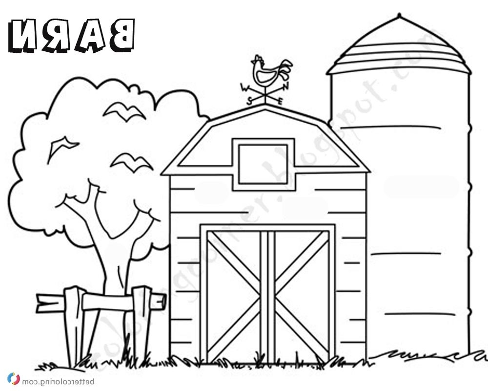 Barn Coloring Pages Barn Coloring Xflt Sizable Barn Coloring Pages Tree The Free Birijus Com