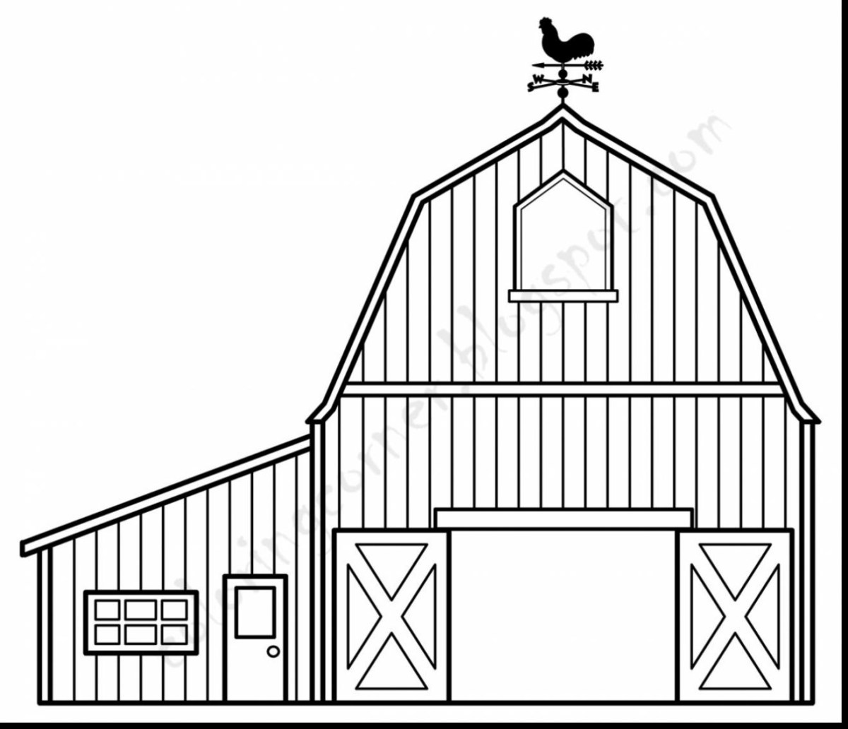 Barn Coloring Pages Barn Outline Barn Coloring Pages Free Jpg Clipartix Birijus Com