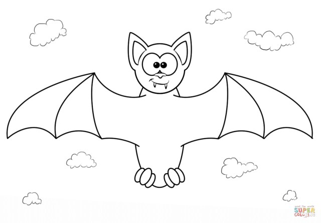 Bat Coloring Pages Cartoon Bat Coloring Pages At Getdrawings Free For Personal
