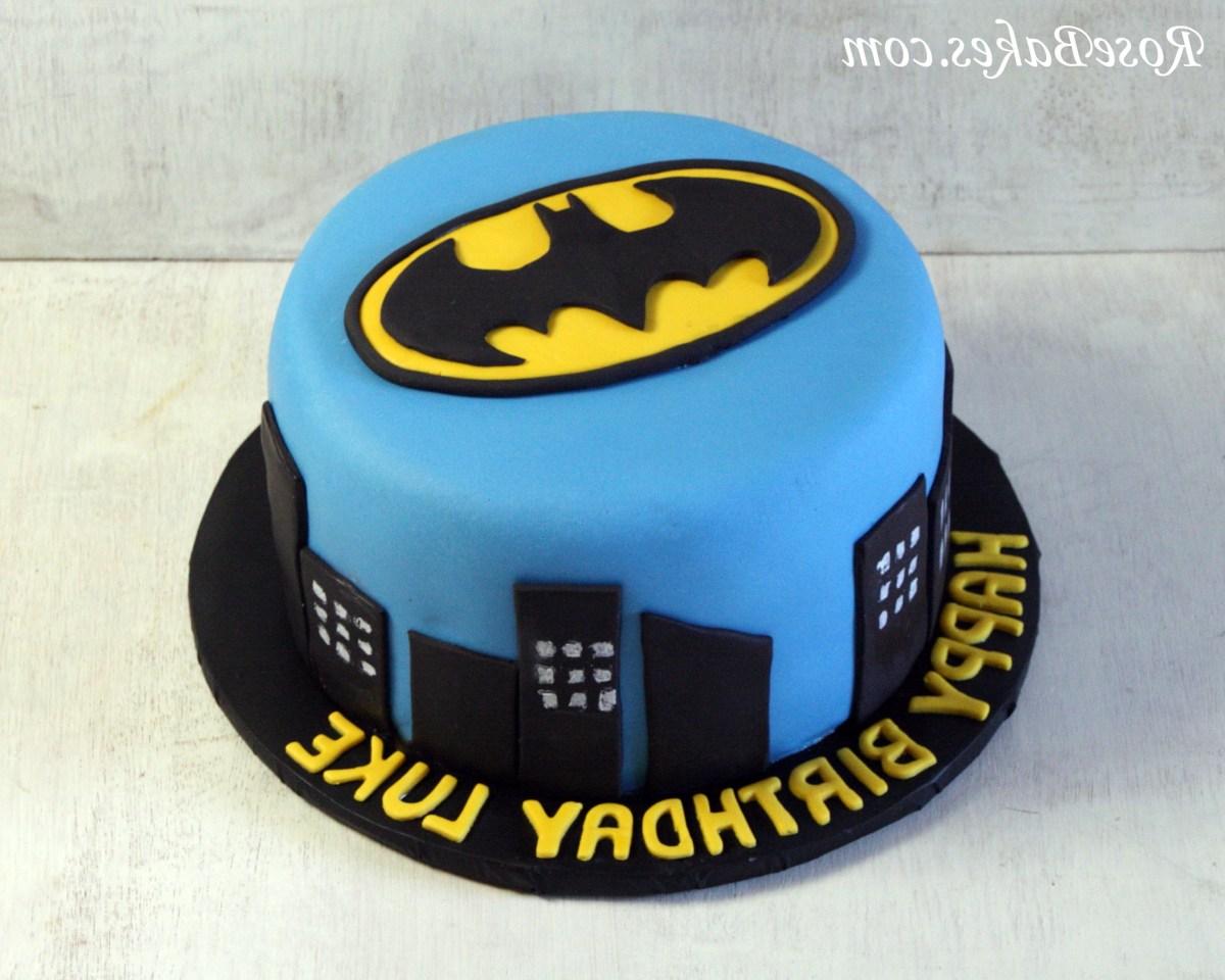 Cool Batman Birthday Cakes Batman Birthday Cake Rldj Batman Cake Birthday Cards Printable Opercafe Filternl