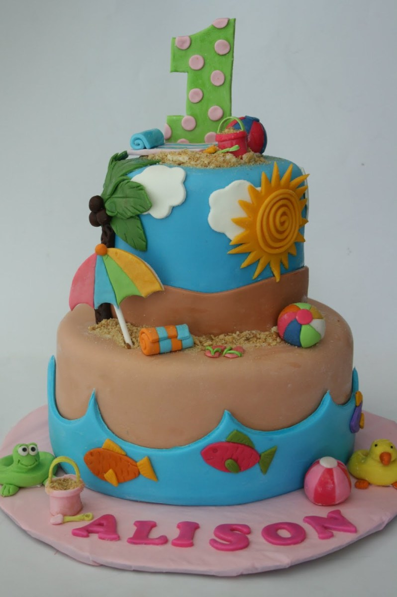 Magnificent Beach Themed Birthday Cakes Beach Birthday Cakes Birijus Com Funny Birthday Cards Online Inifofree Goldxyz
