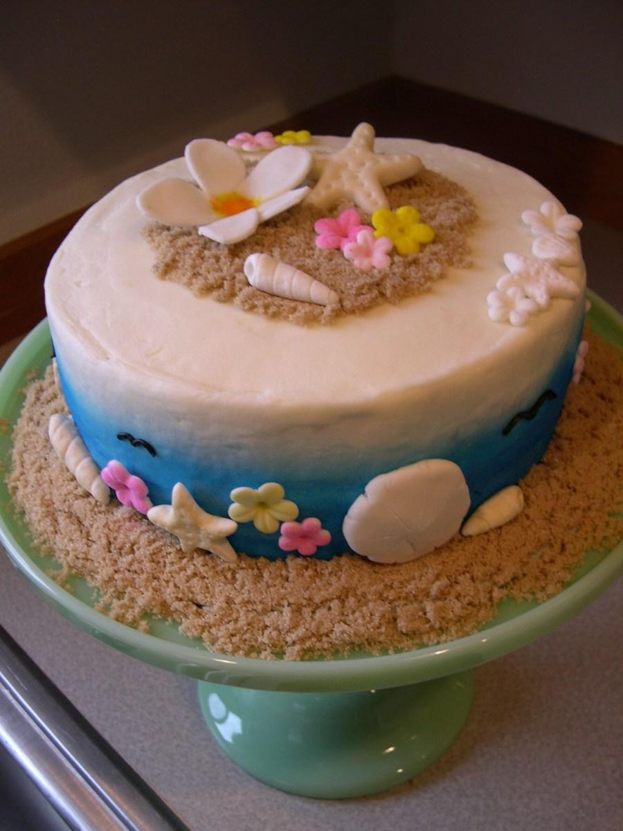 Peachy Beach Themed Birthday Cakes Beach Themed Birthday Tis The Season Funny Birthday Cards Online Bapapcheapnameinfo