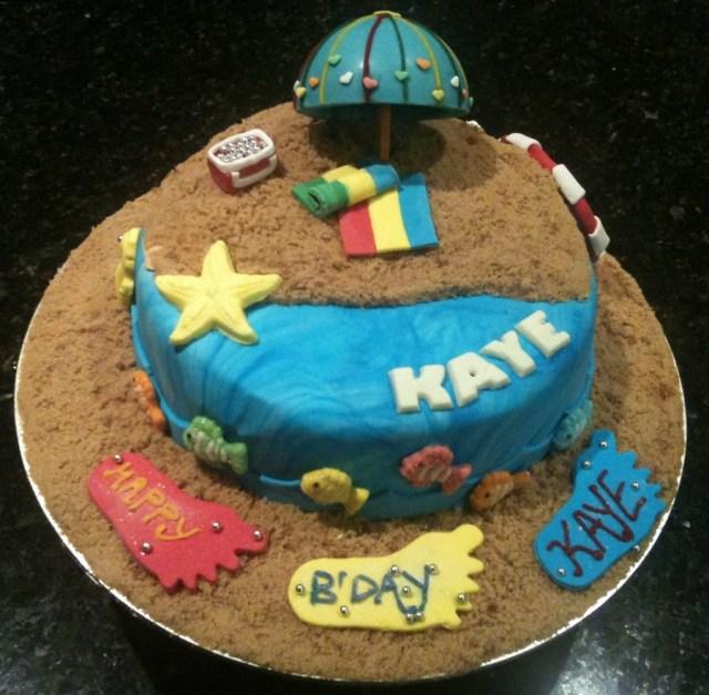 Superb 25 Awesome Image Of Beach Themed Birthday Cakes Birijus Com Funny Birthday Cards Online Hendilapandamsfinfo