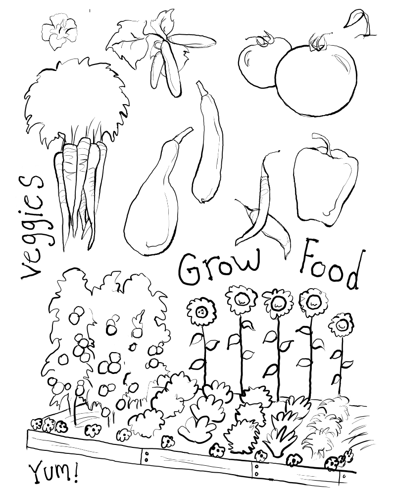 - Bed Coloring Page Flower Bed Coloring Page With Flower Garden