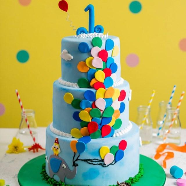 Birthday Cake And Balloons Balloon Birthday Cake