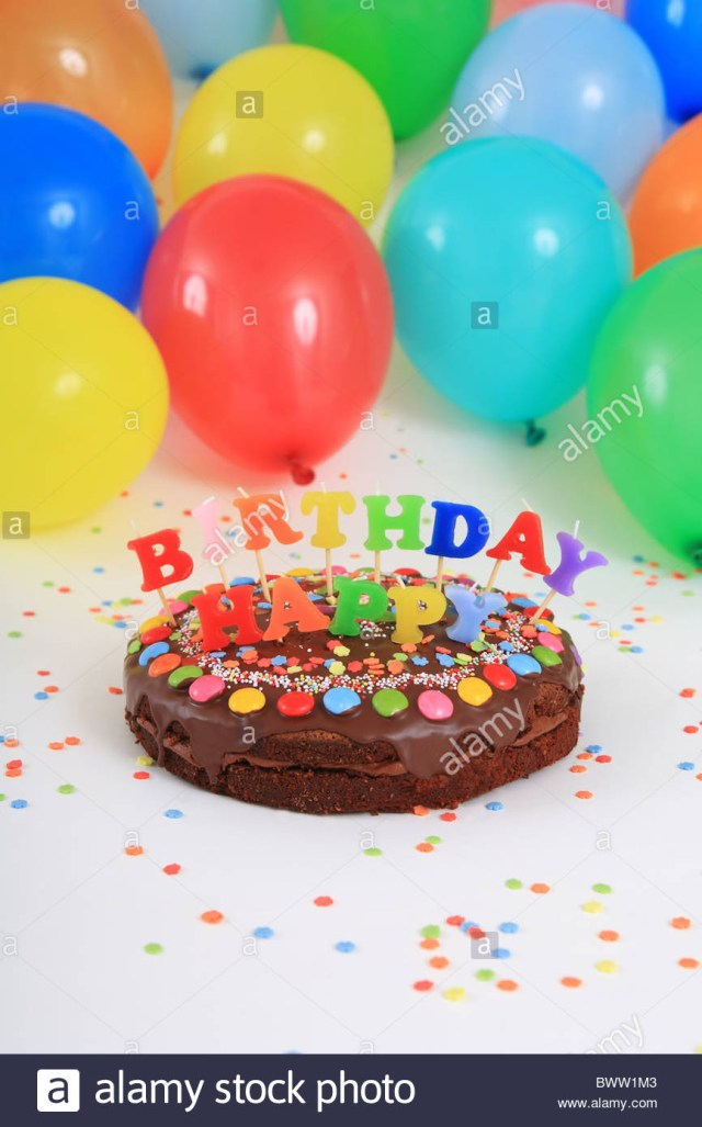 Birthday Cake And Balloons Birthday Cakes Happy Birthday Cake Candles Balloons Party Decoration