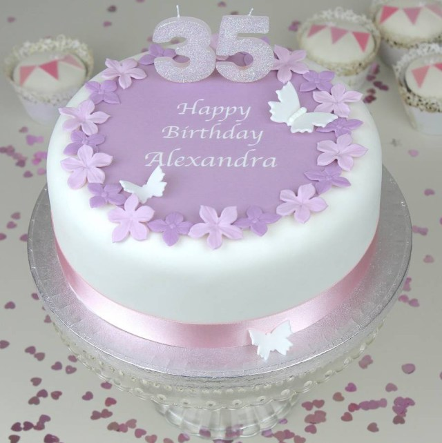 Birthday Cake Flowers Personalised Birthday Cake Topper Decorating Kit Clever Little