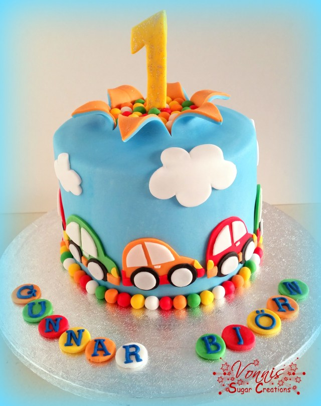Birthday Cake For Boys Cars Cake First Birthday Colorful Explosion Cake Boy Auto Torte