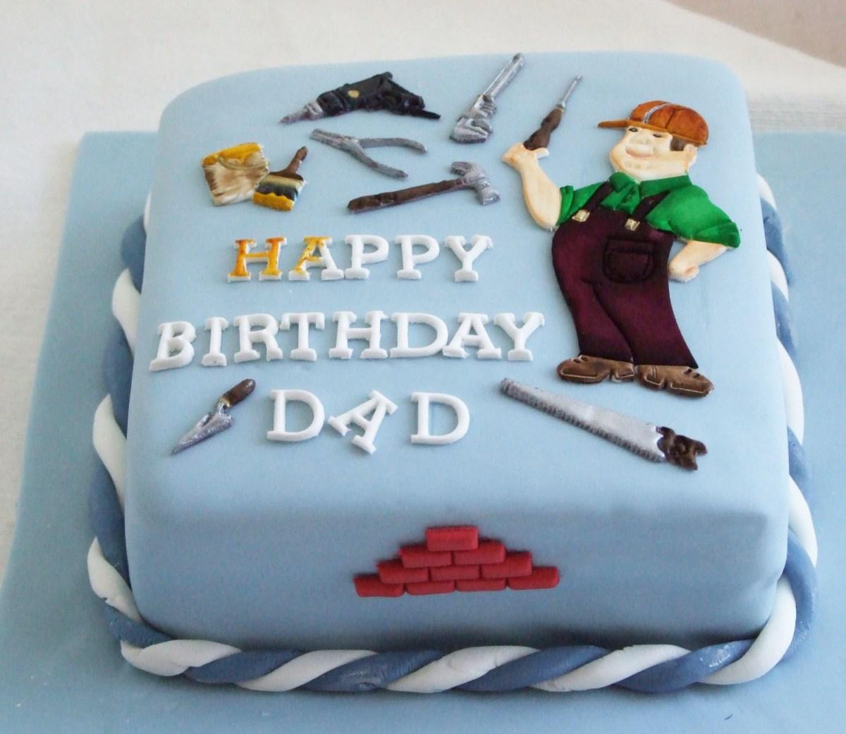 Enjoyable Birthday Cake For Dad Painter Dad Birthday Cake Father Cake Design Funny Birthday Cards Online Hendilapandamsfinfo