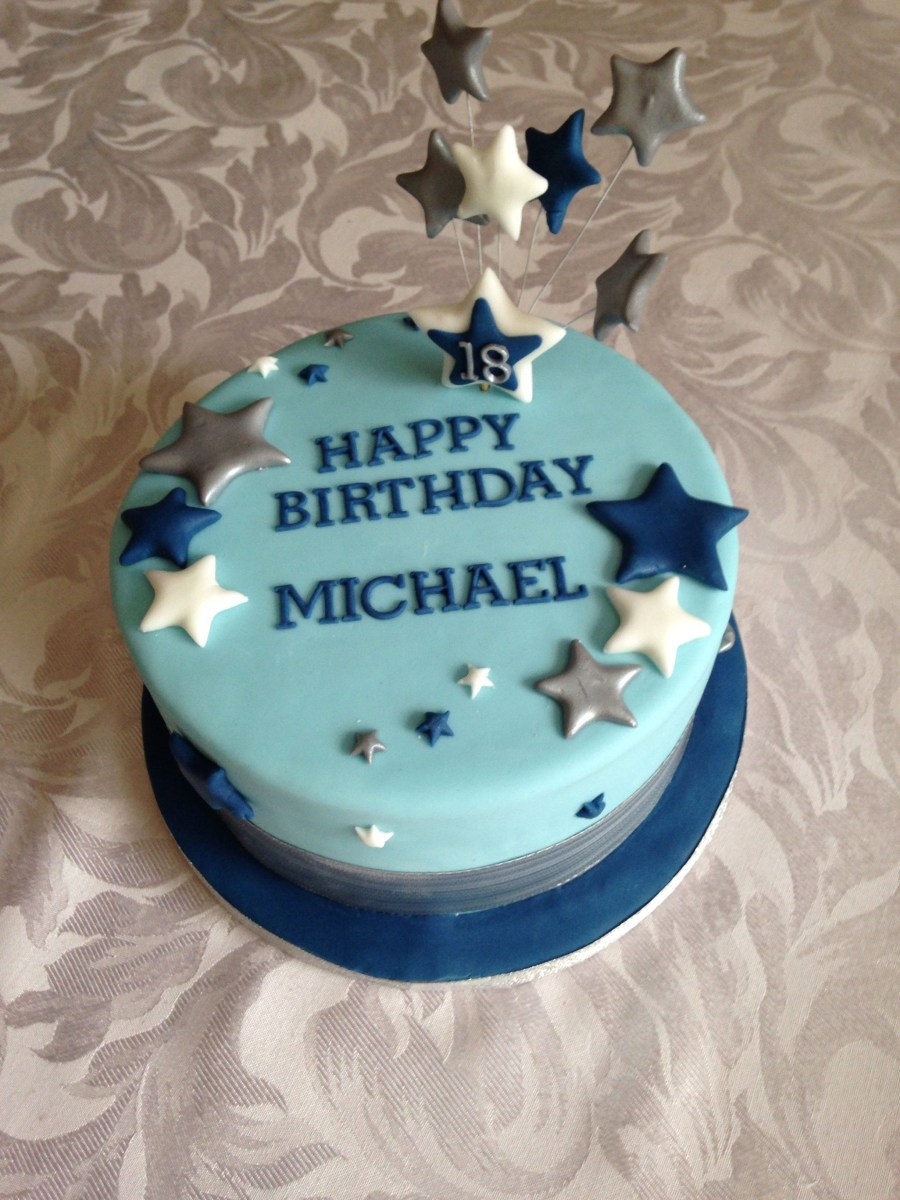 Fabulous Birthday Cake For Him Simple 18Th Birthday Cake For A Boy Prestons Funny Birthday Cards Online Necthendildamsfinfo