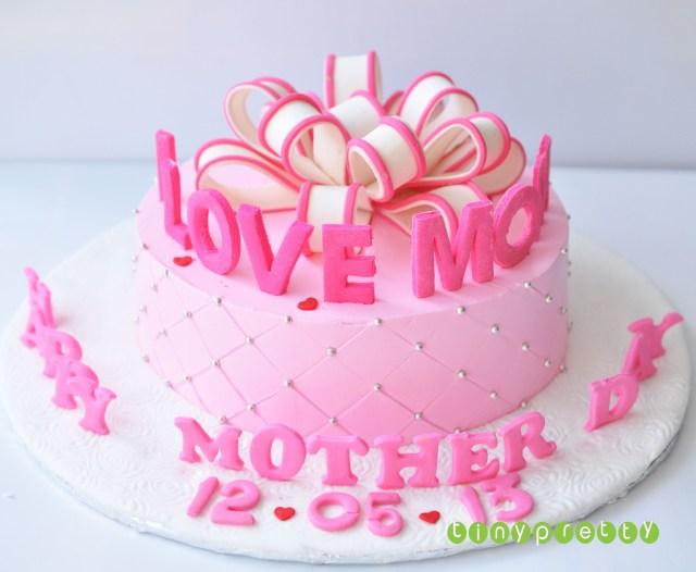 Birthday Cake For Mom Happy Mother Day Cake Birthday Fondant Cake Pinterest Mothers