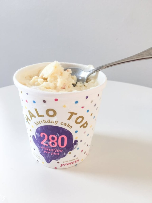 Birthday Cake Frappe Halo Top Birthday Cake High Protein Funfetti And Birthday Cake
