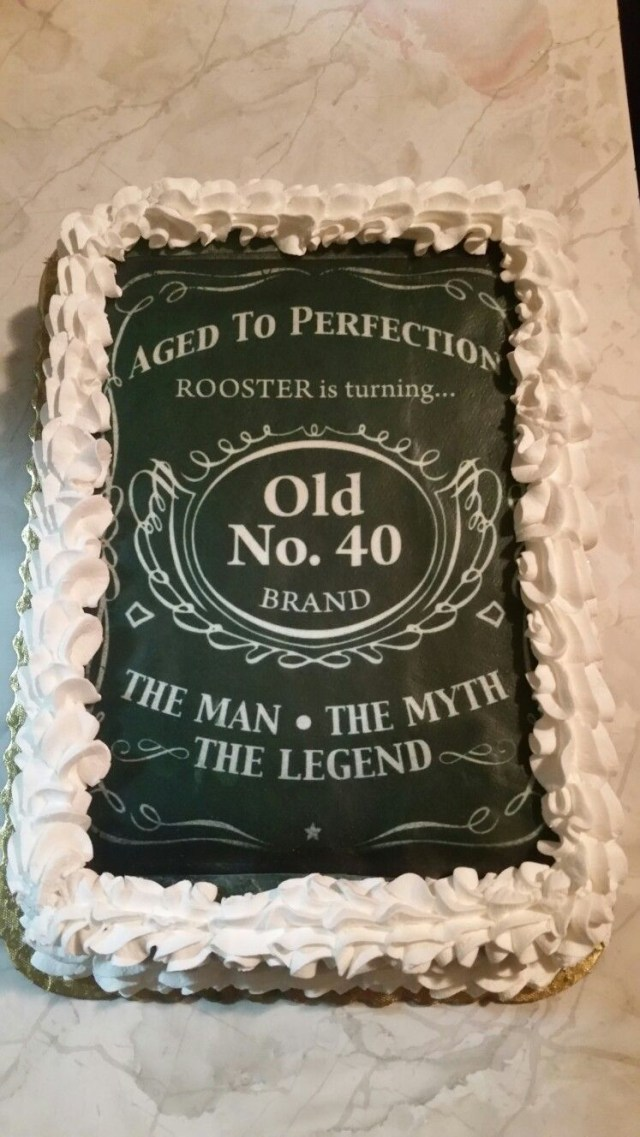 Birthday Cake Pictures For Man 40th Birthday Cakedesigned After Jack Daniels For The Man The