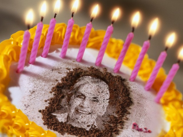 Birthday Cake With Picture Personal Photo On Birthday Cake A Perfect Greeting Card