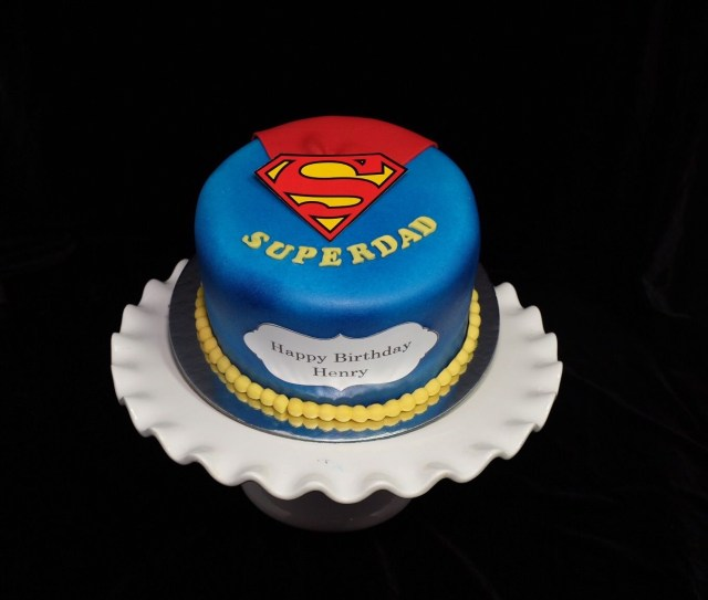 Birthday Cakes For Dad Superdad Cake Father Day Pinterest And