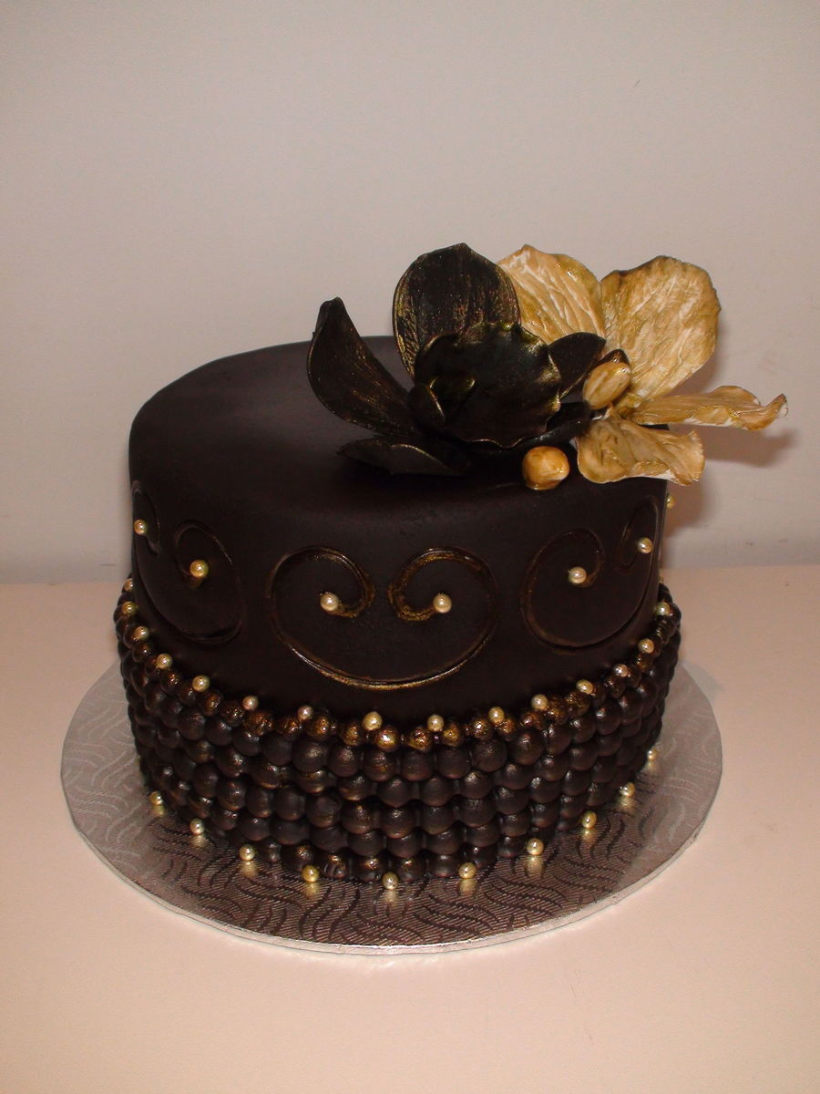 Miraculous Black And Gold Birthday Cake Black Gold Birthday Cake Cakecentral Funny Birthday Cards Online Overcheapnameinfo