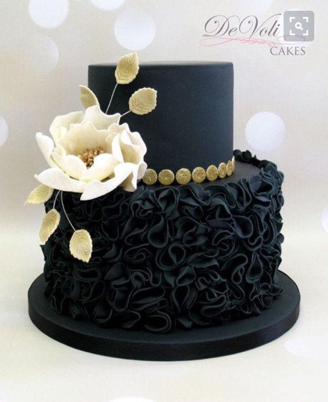 Black Birthday Cake Magnifique Demoiselle Decorating Cakes Amazing Wedding In 2019