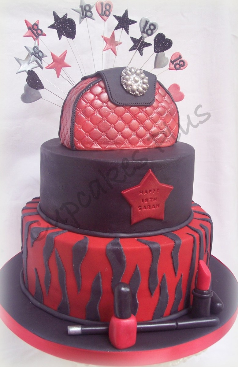 Stupendous Black Birthday Cake Red And Black 18Th Birthday Cake Cakecentral Funny Birthday Cards Online Inifodamsfinfo