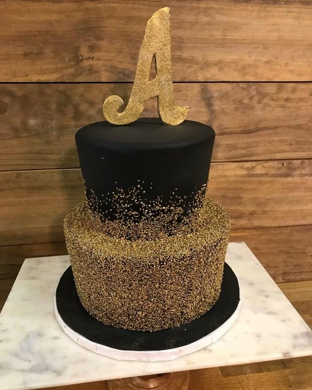 Black Birthday Cake Sweet Ts Bakeshop On Twitter Two Tier All Black Birthday Cake