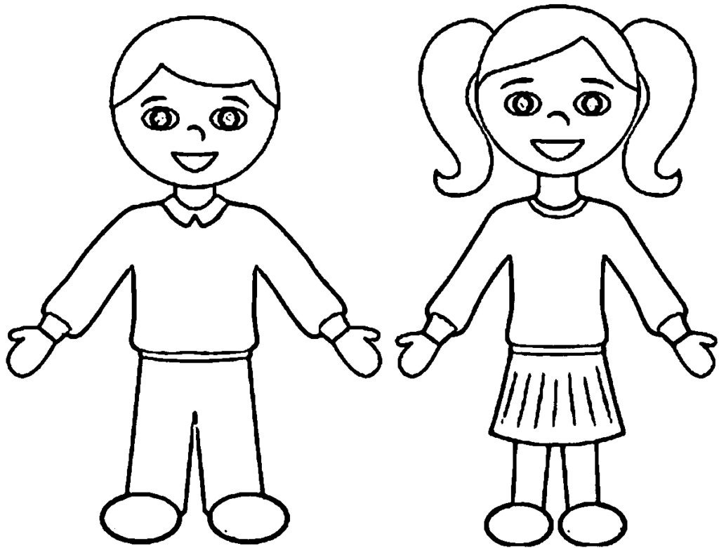 Coloring Pages: Cartoon Boy And Girl Coloring Pages