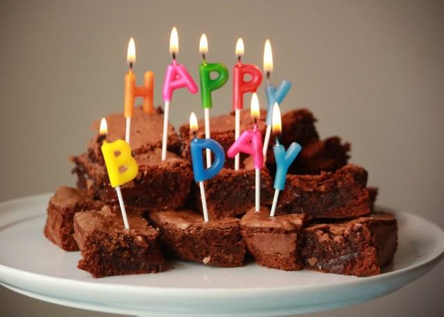 Brownie Birthday Cake With Milk Flour Birthday Brownies