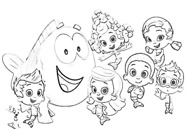 Bubble Coloring Pages Bubble Guppies Printable Coloring Pages At Getdrawings Free