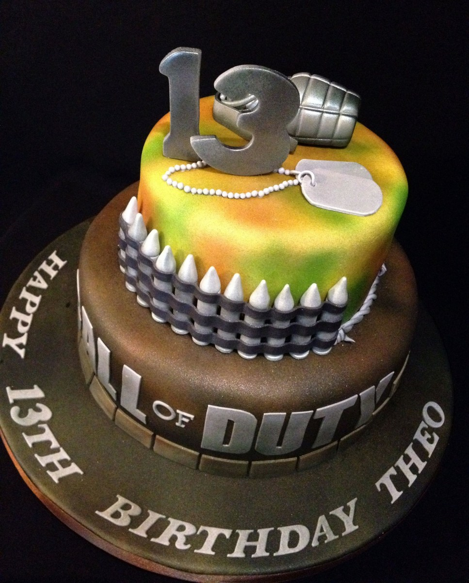 Terrific Call Of Duty Birthday Cake Cod Call Of Duty Cake Call Of Duty Funny Birthday Cards Online Inifodamsfinfo