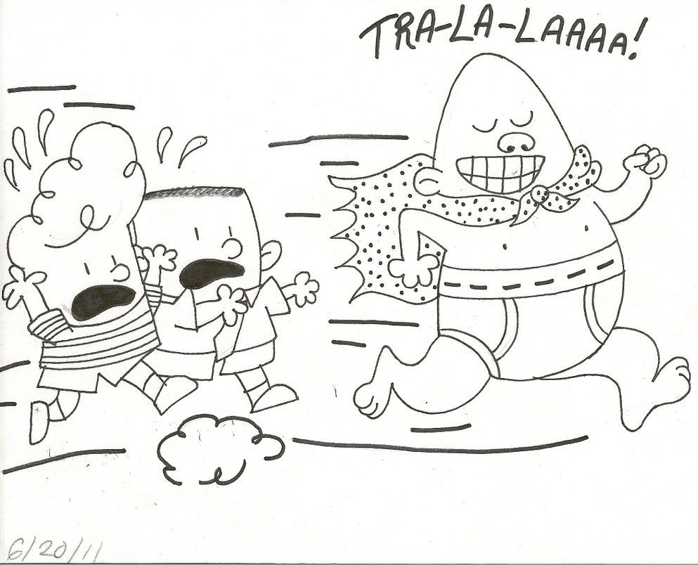 Captain Underpants Coloring Pages Captain Underpants Coloring Pages 12 Colors Of Pictures
