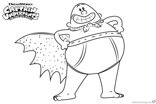 Captain Underpants Coloring Pages Captain Underpants Coloring Pages Free At Getdrawings Free For