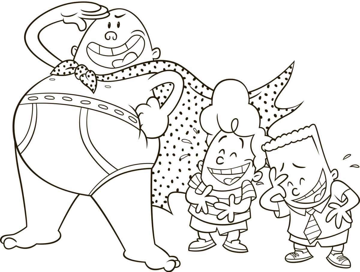 Captain Underpants Coloring Pages Captain Underpants George And Harold Coloring Pages