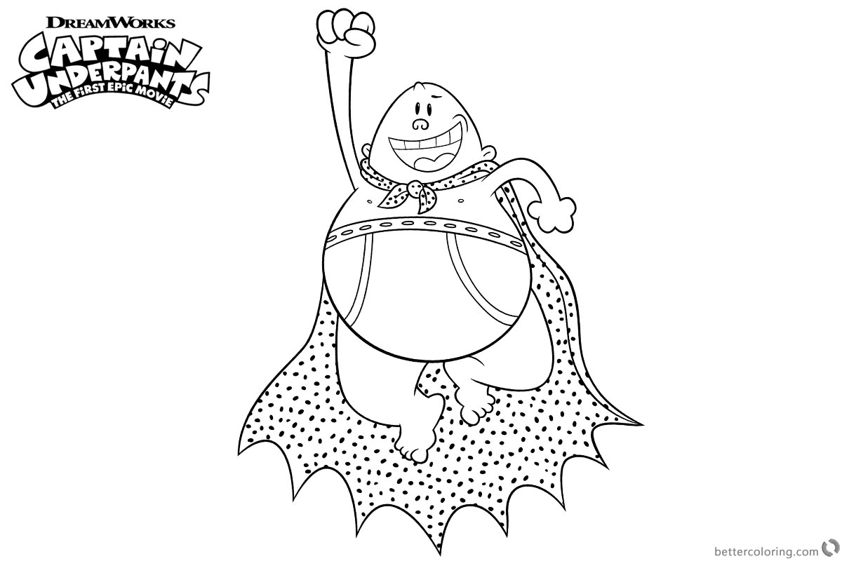 Captain Underpants Coloring Pages Flying Captain Underpants Coloring Pages Free Printable Coloring Pages Birijus Com